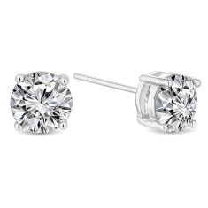 Large Solitaire Crystal Studs