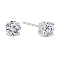 Medium Solitaire Crystal Studs