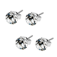 Solo Stud Earrings Set (2 Pairs)