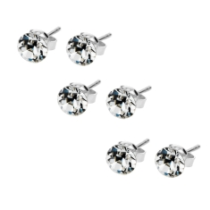 Solo Stud Earrings Set (3 Pairs)