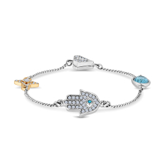 Stacker Magnetic Bracelet with Hamsa Hand Charm