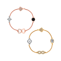 Stacker Bracelets with Infinity and Heart Charms