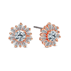 Starburst earrings in rose gold plating