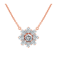 Starburst Necklace in Rose Gold Plating