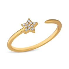 Star Ring in Gold Plating
