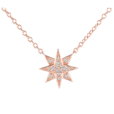 Stella Pendant in Rose Gold