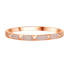 Stud bangle in rose gold plating