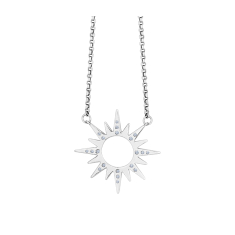 Sunburst Necklace with Crystals