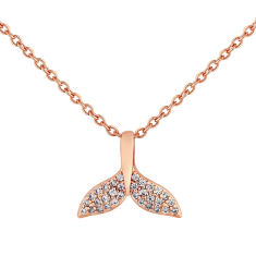 Tail pendant in rose gold plating