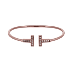 T Bangle Rose Gold