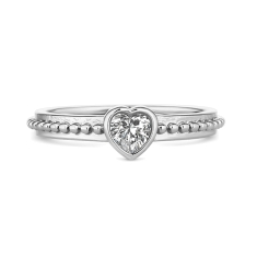 Tiny Heart Stacking Ring