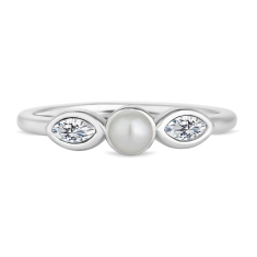 Tiny Pearl Stacking Ring