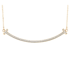 T Necklace Gold