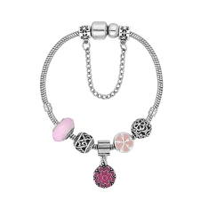 Treasure Bracelet in Floral Pink