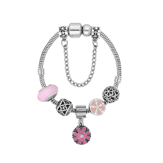 Treasure Bracelet in Floral Pink - Small Size