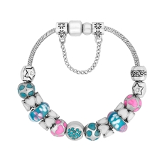 Treasure Bracelet in Pink and Turquoise