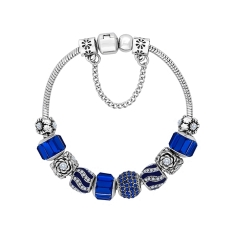 Treasure Bracelet with Royal Blue Charms - Small Size