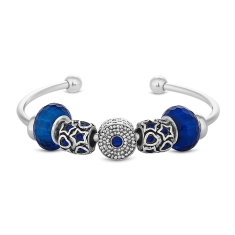 Open Treasure Bangle in Blue