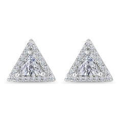 Triagonal Stud Earrings