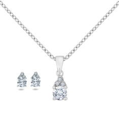 Trinity Pendant and Earrings Set
