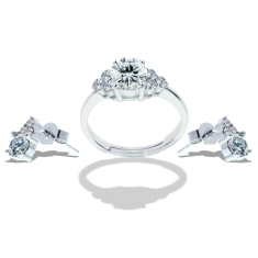 Trinity Ring and Earrings Set