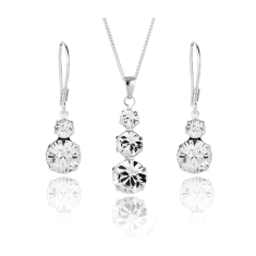 Trio Pendant and Duo Earrings Set