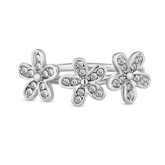 Triple Daisy Stacking Ring