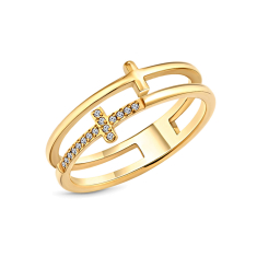 Truth ring in gold plating