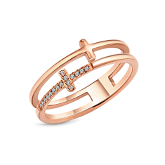 Truth Ring in Rose gold plating size 6