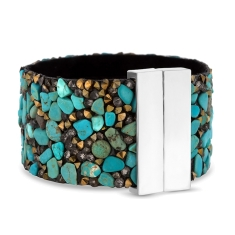Cuff Bracelet in Turquoise