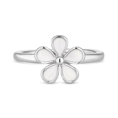 White Daisy Stacking Ring