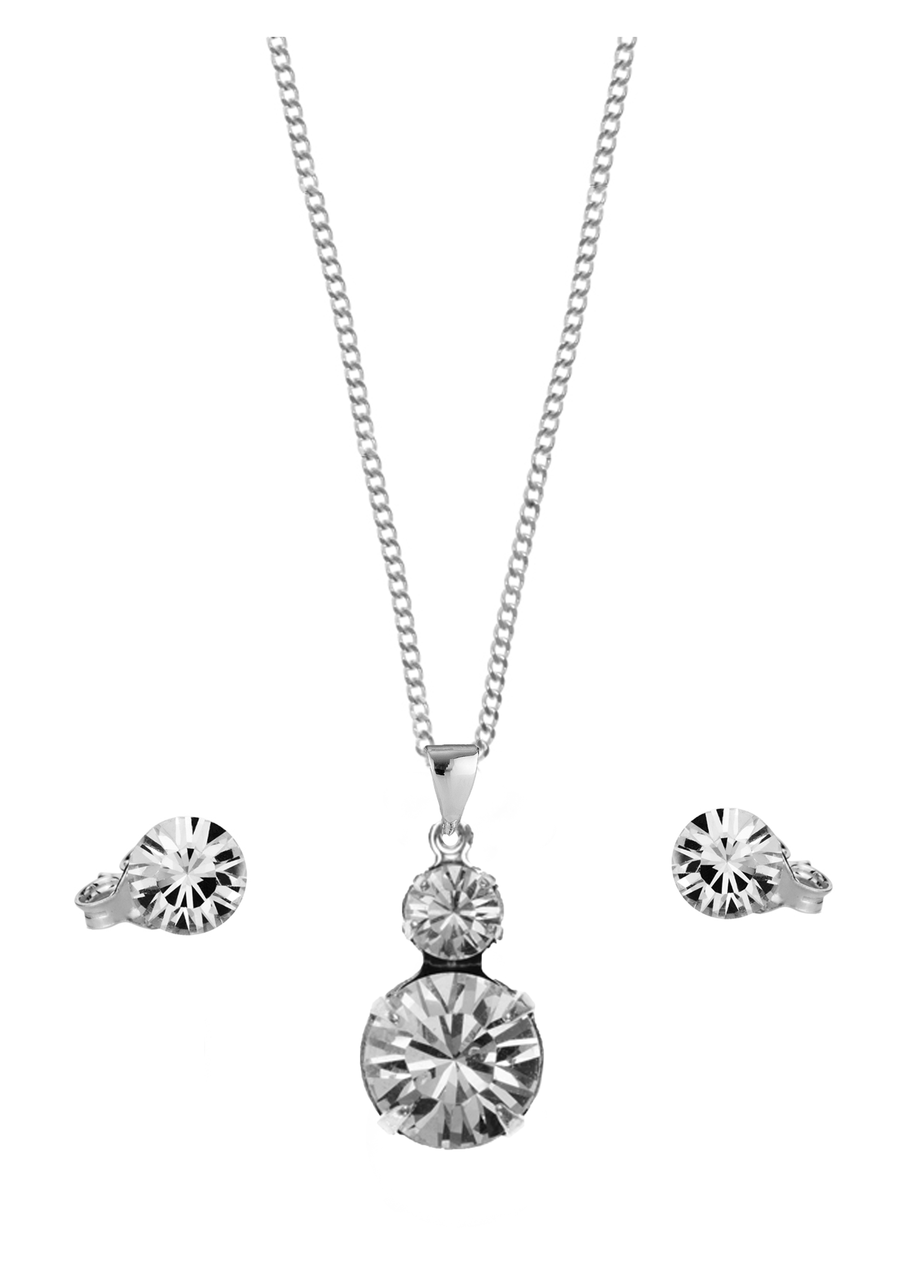 Duo Pendant and Solo Stud Earrings Set