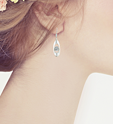Elegant Earrings with Swarovski Elements